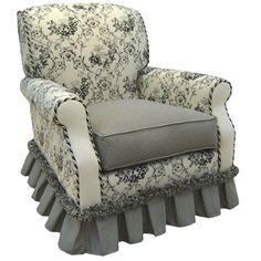 Toile Black Adult Club Glider Rocker Angel Song Glider Rocking Chairs Accent Chairs Accent