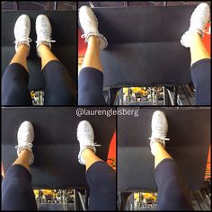 Switching up the stance on the leg press to better target the quads, hamstrings, or glutes! FITNESS BARBIE LAUREN GLEISBERG blog for daily workouts, healthy recipes, motivation, and more!