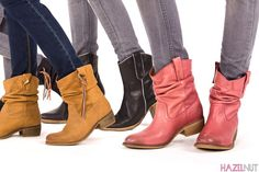 Western boots / botas camperas.  Fashion, style and comfort in a kind of shoe that season after season remains among the essential basics. We show you five new collection models.  Moda, estilo y comodidad en un tipo de calzado que temporada tras temporada sigue encontrándose entre los básicos imprescindibles. Os enseñamos 5 modelos de nueva colección.  You'll find it in our website's blog / Puedes verlo en el blog de nuestra web: http://www.hazelnut.es/