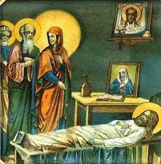 ΟΙ ΑΓΓΕΛΟΙ ΤΟΥ ΦΩΤΟΣ: Όποιος υποφέρει την ασθένεια του με υπομονή και ευγνωμοσύνη προς τον Θεό, στεφανώνεται σαν μάρτυς και αγωνιστής. Christian Faith, Spirituality, Blog, Painting, Santorini, Cricut, Icons, Quotes, Life