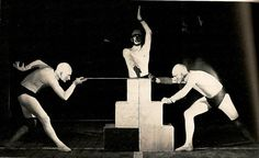 "Schlemmer, ""Game with Building Blocks"" (Bauhaus stage, 1927)"