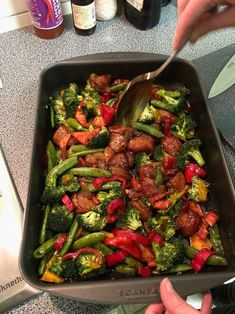 Groenten en kip uit de oven in sojasaus-marinade – Keuken♥Liefde Vegetables and chicken from the oven in soy sauce marinade – Kitchen ♥ Love Healthy Summer Recipes, Super Healthy Recipes, Healthy Crockpot Recipes, Healthy Eating Tips, Healthy Nutrition, Healthy Slow Cooker, Happy Foods, Asian Recipes, Food Inspiration