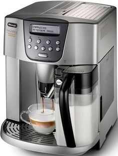 Delonghi Esclusivo features a 15 bar pump that produces a thick golden crema. This stainless steel exterior houses a simple to use espresso machine. Coffee Machine Best, Home Espresso Machine, Espresso Machine Reviews, Coffee Maker Reviews, Automatic Espresso Machine, Coffee Maker With Grinder, Coffee And Espresso Maker, Household Items, Kitchen Appliances