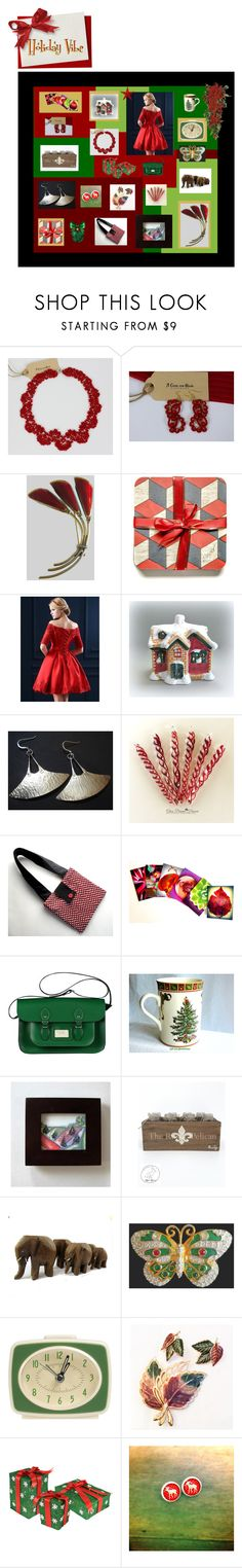"""""""Holiday Vibe"""" by anna-ragland ❤ liked on Polyvore featuring Lumière, WithChic, Spode and Nearly Natural"""
