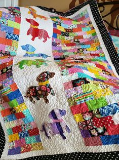 Quilt is Tiles are Dog Quilts, Cute Quilts, Animal Quilts, Scrappy Quilts, Baby Quilts, Baby Boy Quilt Patterns, Scrap Quilt Patterns, Applique Quilts, Quilting Projects