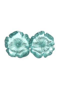 Watery Poppy Earrings