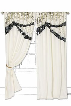 Sequined Scallops Curtain #anthropologie PRETTY!