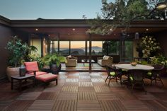 Southampton project in Berkeley by Koch Architects, Inc. San Francisco/Bay Area, California architecture and design. Indoor and outdoor space with a view.