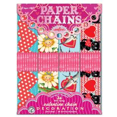 eeBoo's Valentines Day Paper Chain makes 24-feet of chain and doesn't require any glue to tape! Time to start decorating! #hearts #crafts #valentines
