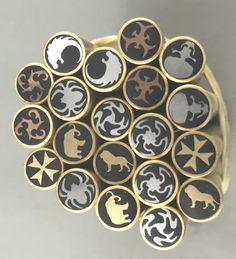 Mosaic pins $45 ea