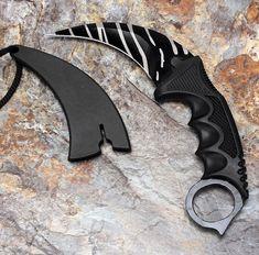 Karambit Doppler Csgo Knife Go Cs Skin Global Counter Strike Combat Knives Blue | knives ...
