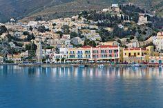 ღღ Symi Island, Greece ~~ Hotel Nireus from the Sea Top Hotels, Greece Hotels, Fine Hotels, Summer Vacations, Islands, Travel Inspiration, Photo Galleries, Destinations