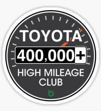 'Toyota High Mileage Club - Miles' Sticker by brainthought Transparent Stickers, Sticker Design, Toyota, Cart, How To Remove, It Is Finished, Retro, Covered Wagon, Retro Illustration