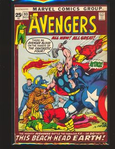 #certified #graded #cgc #cpgx #art #DC #Marvel #comic Avengers # 93 - Neal Adams cover & art VG/Fine Cond.