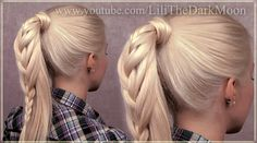 Braided ponytail hairstyle for long hair from video http://www.youtube.com/watch?v=v3dCjNHIqv4