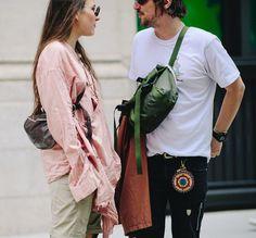 Streetstyle на Неделе мужской моды в Нью-Йорке
