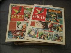 Collection of Eagle Comics in nice condition complete year with 53 issues 1950s, Eagle, Baseball Cards, Comics, Antiques, Nice, Cover, Collection, Things To Sell