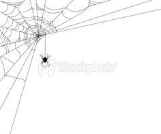 Halloween spider web design