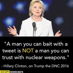 Part of Hillary Clinton's acceptance speech about tweets