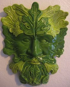 From the Craftster Community: Green Man Ceramic mask - POTTERY, CERAMICS, POLYMER CLAY