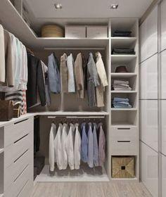 50 ideas bedroom closet design layout walks for 2019 Small Closet Storage, Closet Built Ins, Small Closets, Bedroom Storage, Walk In Closet Small, Dream Closets, Corner Closet, Corner Wardrobe, Bedroom Wardrobe