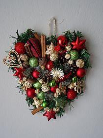 Bożonarodzeniowe serce  drumlaart.blogspot.com