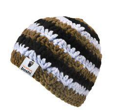 Der Boshi mit dem coolen Streifenmuster liegt ein anspruchsvolles Häkelmuster zugrunde. http://www.myboshi.net/kreativsets/muetzen/mihara.html