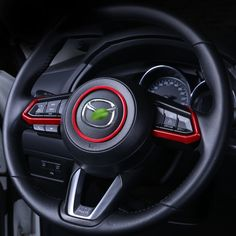 Car Steering Wheel Trim Circle Sequins Cover Sticker For Mazda 3 6 CX3 CX-3 CX-5 CX5 CX8 CX 9 Axela ATENZA 2017 2018 Accessories Review Mazda 3 Hatchback, Mazda 3 Sedan, Mazda Cx5 Accessories, Interior Accessories, Mazda 6, Cleaning Fun, Cars And Motorcycles, Nissan, Car Stuff