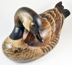Early Tom Taber Hutch Goose Woodenware Signed Large Hand Carved Decoy Vintage | eBay