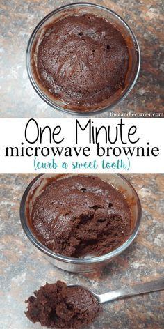 2 Minute Eggless Chocolate Brownie in a Mug | Brownies