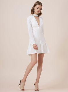Keepsake Stand Alone L/S Dress – Ivory