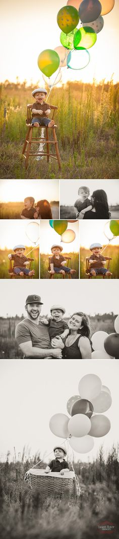 First Birthday, Family Photos,.   Something like this might be cute with the highchair we have with the tray off??