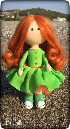 Handmade Dolls, Handmade Items, Funny Toys, Different Holidays, Redhead Girl, Diy Pins, Business Gifts, Small Shops, Best Christmas Gifts