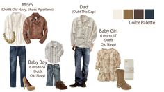 What to wear family photos family - camel, blue, brown, neutrals, clothing Family Portraits What To Wear, Outdoor Family Portraits, Family Photo Colors, Fall Family Photo Outfits, Bild Outfits, Mom Outfits, What To Wear Fall, How To Wear, Old Navy Baby Boy