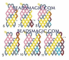 Free pattern for necklace Circus (Beads Magic) Seed Bead Jewelry, Bead Jewellery, Beaded Jewelry, Seed Beads, Beading Patterns Free, Beading Tutorials, Free Pattern, Diy Necklace Patterns, Jewelry Patterns