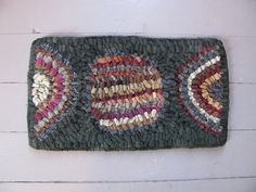 primitive table rug by Primitive Betty...
