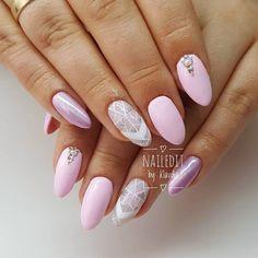 80+ Cute almond shaped nail designs 2018 >>> nail-design-best.com #almondshapednails