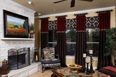 Some animal print, a great graphic and texture in a single window treatment