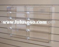 Wall Mounted Acrylic Display Shelfplexiglass Book Standlucite Shoes Holder Shoe Holders