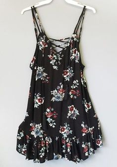 Laced up Front with tassels! Our newest Floral dress WWW.SHOPPUBLIK.COM
