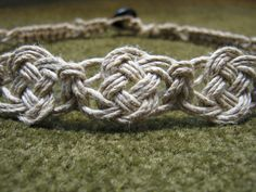 Hemp necklace with pretzel knot center