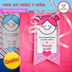 *GRATIS * Mini Kit imprimible Niña y Niño