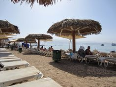 Eilat, Israel - Public Spaces, beach at the Red Sea (אילת)