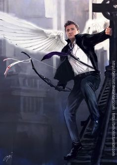 The Avengers / Angel - Clint (by brilcrist) Marvel Characters, Marvel Heroes, Marvel Avengers, Marvel Comics, Book Characters, Hawkeye, Geeks, Clintasha, Die Rächer