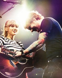 I love this photo of Tay and Ed!