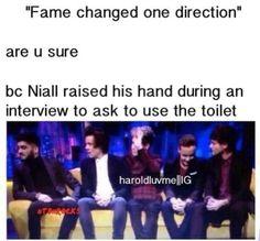 Niall gotta pee