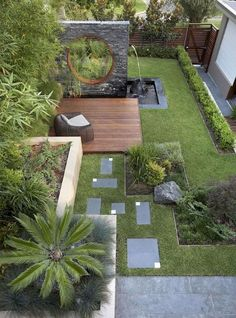 55 Small Garden and Landscaping Design for Small Backyard Ideas is part of Modern backyard landscaping - You might think that keeping a small yard open and loosely planned would make it feel bigger, but the opposite is true The key to Small Backyard Landscaping, Backyard Garden Design, Diy Garden, Modern Landscaping, Backyard Designs, Desert Backyard, Patio Design, Small Backyard Design, Terrace Garden