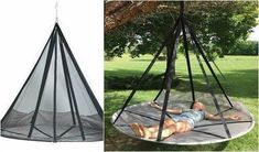 Hammock With Tree Straps Outdoor Camping Air Bed Swing Lounger Net Chair Hanging