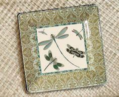Dragonflies / Dragonfly Art  / Linden Green by GlassPaperScizzors, $89.00 #dragonfly