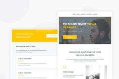 Personal Portfolio - Email Newsletter by Ra-Themes on Envato Elements Email Templates, Newsletter Templates, Ra Themes, Web Project, Email Newsletters, Personal Portfolio, Web Design, Check, Free